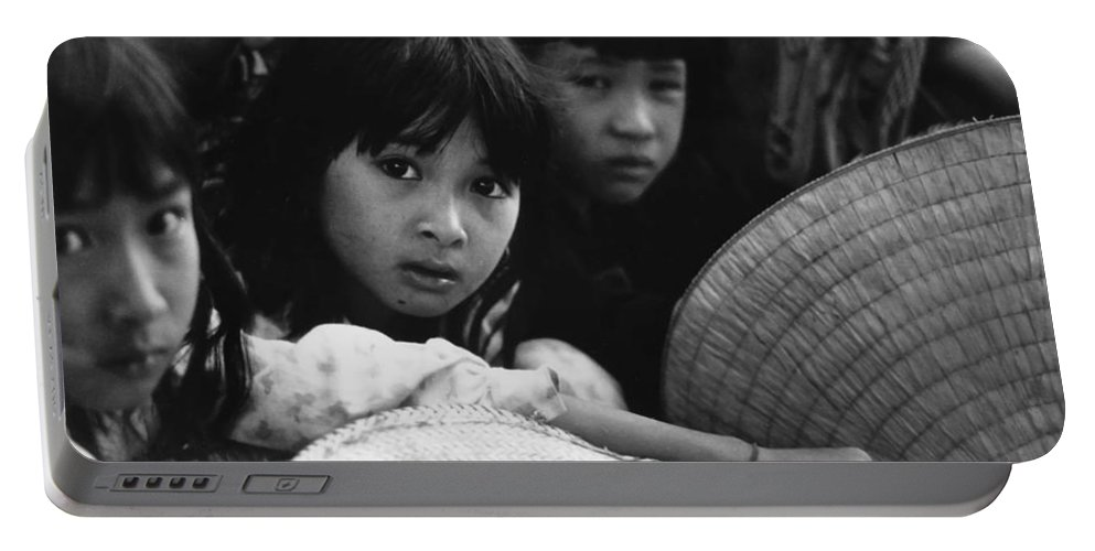 Vietnam Portable Battery Charger featuring the photograph Rapt Attention by Norman Johnson