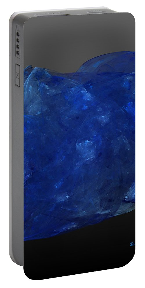 Tanzanite Portable Battery Charger featuring the digital art Raw Tanzanite by Diane Parnell