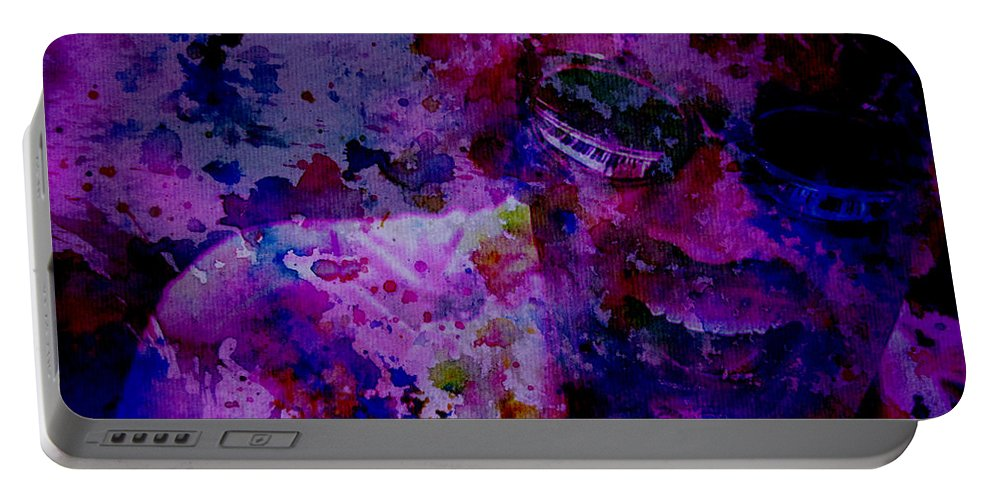 Ray Charles Portable Battery Charger featuring the digital art Ray Charles 2 by Brian Reaves