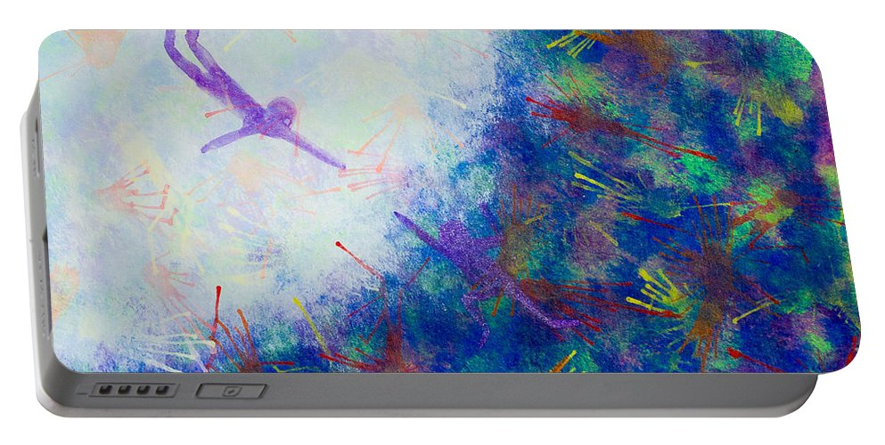 Portable Battery Charger featuring the painting Reach by Stefanie Forck