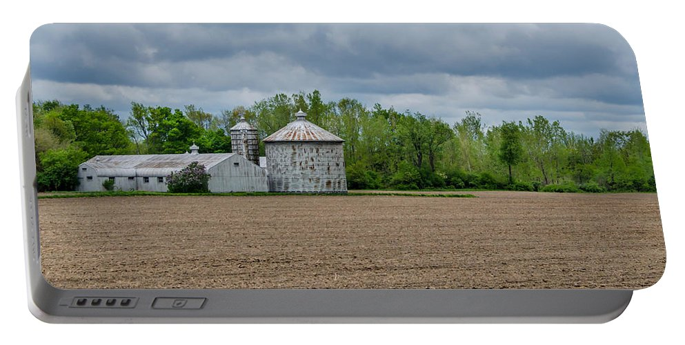 Barn Portable Battery Charger featuring the photograph Ready For Planting by Guy Whiteley