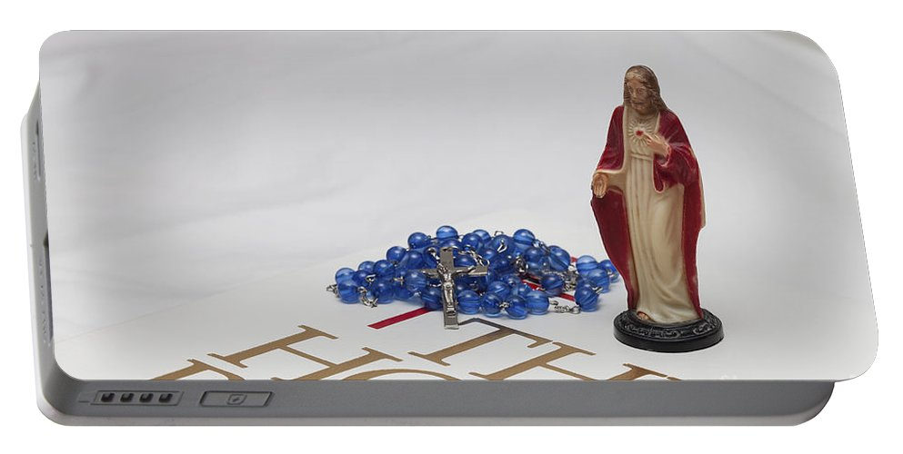 Holy Portable Battery Charger featuring the photograph Ready For Prayer by Diane Macdonald
