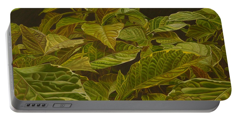 Plant Portable Battery Charger featuring the painting Ready For Spring by Thu Nguyen