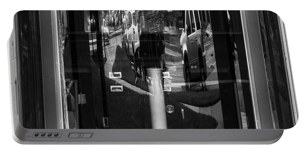 Random Portable Battery Charger featuring the photograph Real Windows Have Curves by Angus Hooper Iii