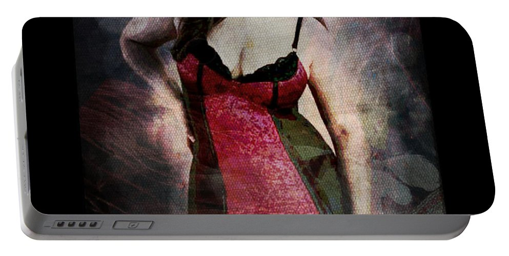 Curvy Portable Battery Charger featuring the digital art Real Woman Real Curves by Absinthe Art By Michelle LeAnn Scott