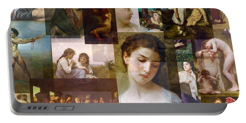 Realism Portable Battery Charger featuring the mixed media Realism 1850s To 1890s by Anders Hingel