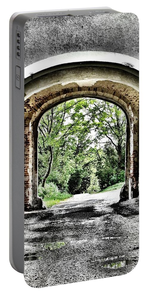 Arch Portable Battery Charger featuring the photograph Realization by Marianna Mills