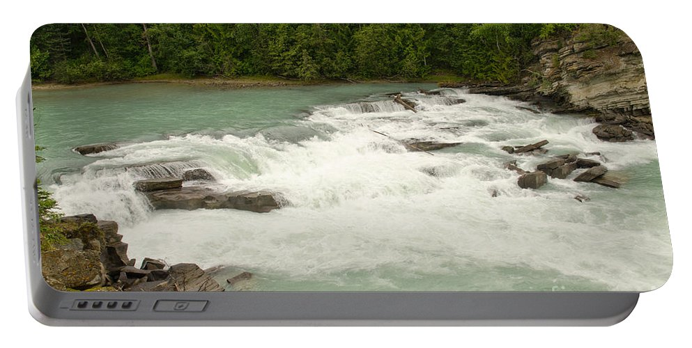 Rearguard Falls Portable Battery Charger featuring the photograph Rearguard Falls Of The Fraser River by Ralf Broskvar