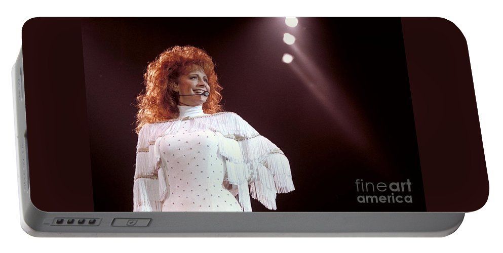 Reba Portable Battery Charger featuring the photograph Reba Mcentire-58 by Timothy Bischoff