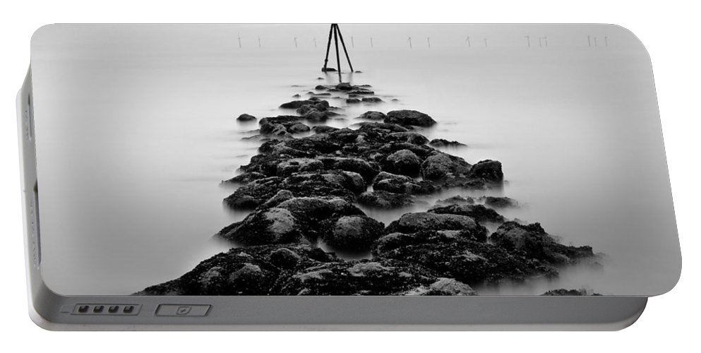 Ocean Marker Portable Battery Charger featuring the photograph Receding Tide by Dave Bowman
