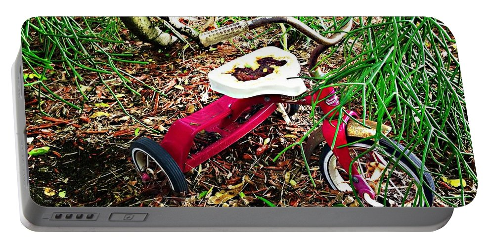 Tricycle Portable Battery Charger featuring the photograph Recollections by Carlos Avila