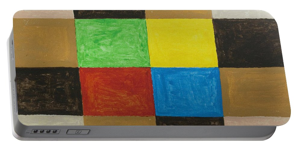 Rectangles Portable Battery Charger featuring the painting Rectangles by Stormm Bradshaw