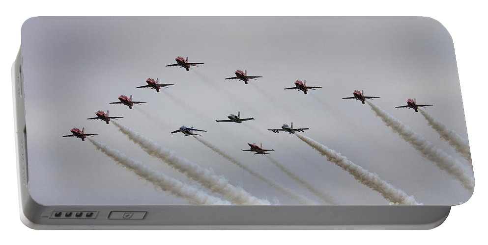 Red Arrows Portable Battery Charger featuring the photograph Red Arrows 50 by J Biggadike