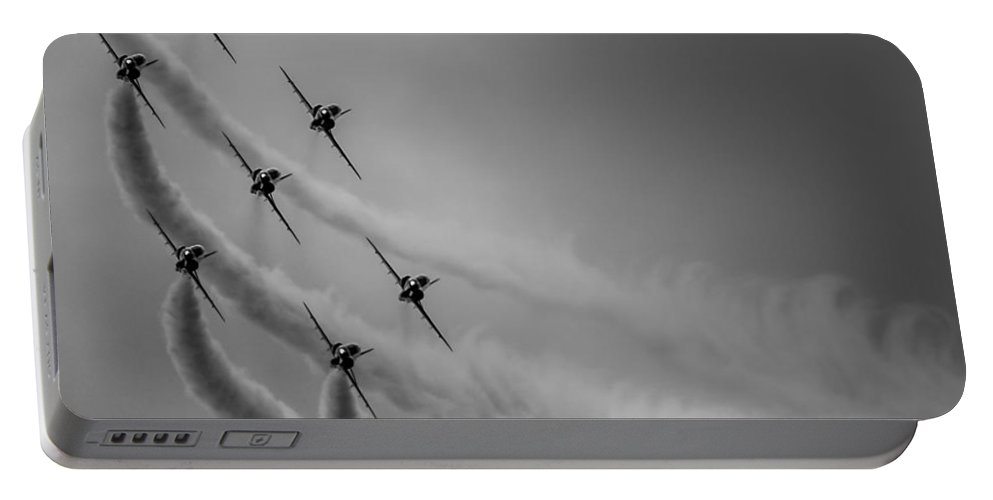 Riat Portable Battery Charger featuring the photograph Red Arrows Diamond 9 by Gareth Burge Photography