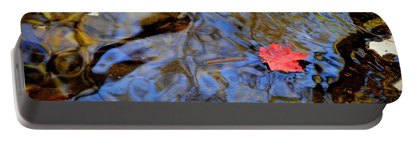 Red Portable Battery Charger featuring the photograph Red Blue And Gold by Frozen in Time Fine Art Photography
