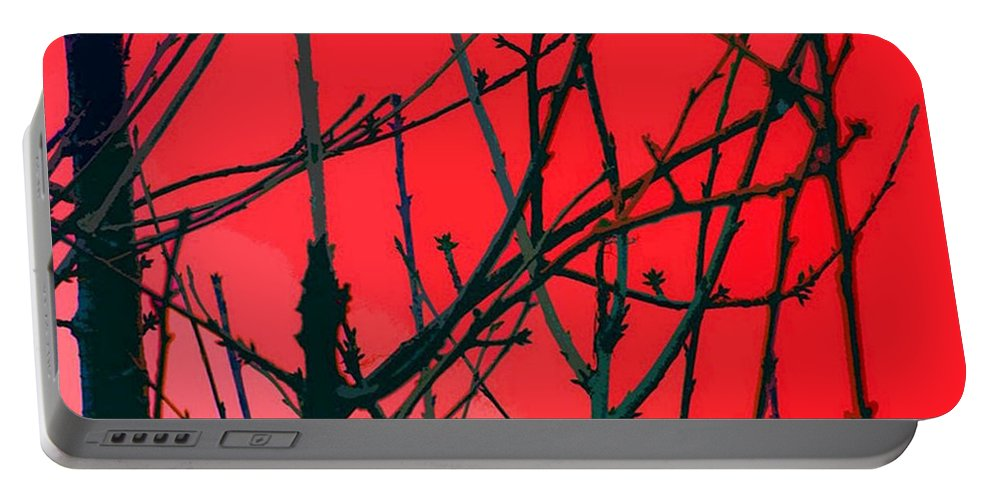 Red Portable Battery Charger featuring the digital art Red by Carol Lynch