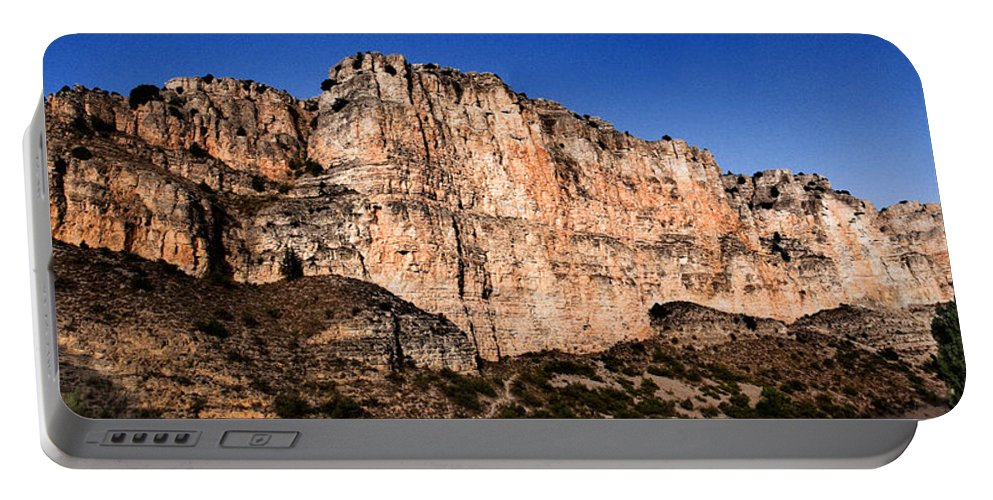 Red Cliff Portable Battery Charger featuring the photograph Red Cliffs Blue Sky by Weston Westmoreland
