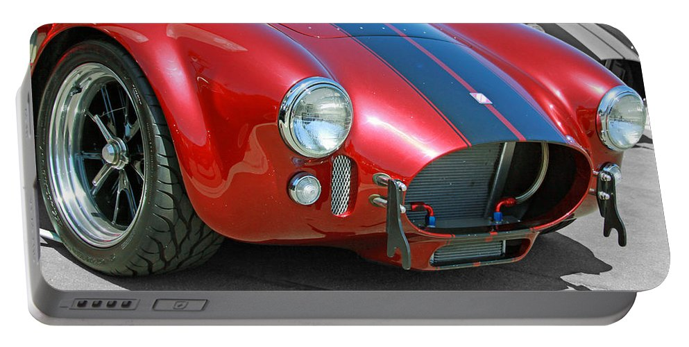 Cars Portable Battery Charger featuring the photograph Red Cobra by Shoal Hollingsworth