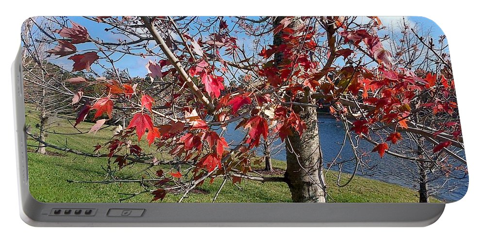 Red Portable Battery Charger featuring the photograph Red Leaves by George Pedro
