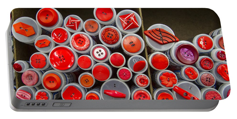 Button Portable Battery Charger featuring the photograph Red Palate by Jean Noren