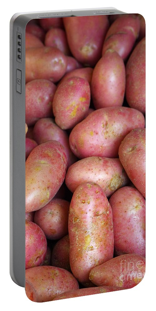 Farm Portable Battery Charger featuring the photograph Red Potatoes by Carlos Caetano