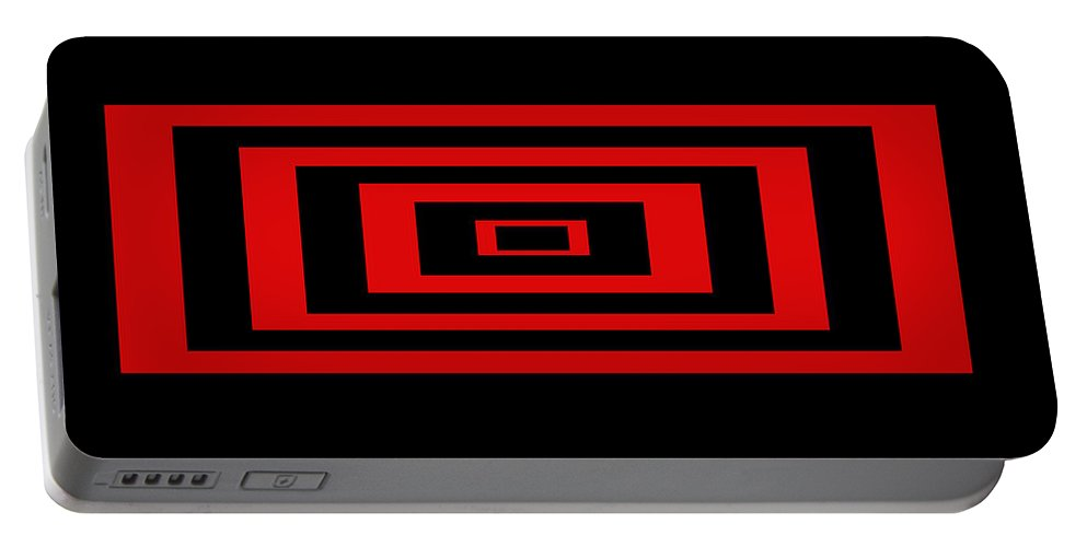 Pop Art Portable Battery Charger featuring the digital art Red Rectangle by Mike McGlothlen