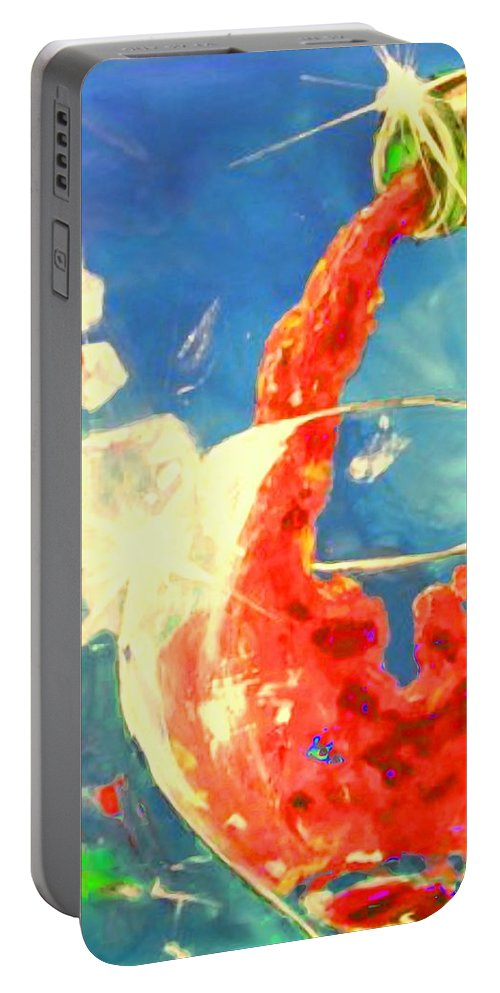 Wine Portable Battery Charger featuring the painting Red Red Wine 2 by Marcello Cicchini