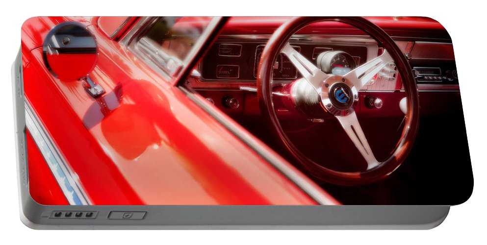 American Portable Battery Charger featuring the photograph Red Ride by David Hare
