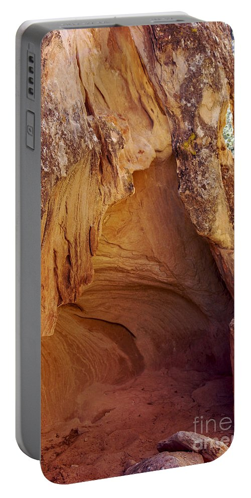 Cave Spring Trail Needles District Canyonlands National Park Utah Parks Cave Caves Red Rock Trails Portable Battery Charger featuring the photograph Red Rock Cave by Bob Phillips