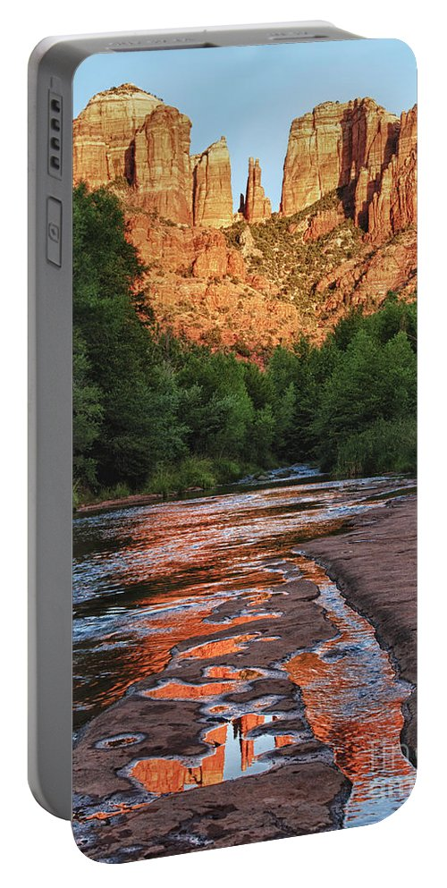 Oak Creek Portable Battery Charger featuring the photograph Red Rock Crossing by Claudia Kuhn
