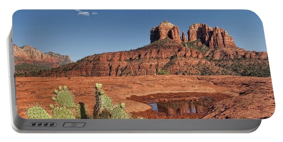 Red Rocks Portable Battery Charger featuring the photograph Red Rocks by Claudia Kuhn