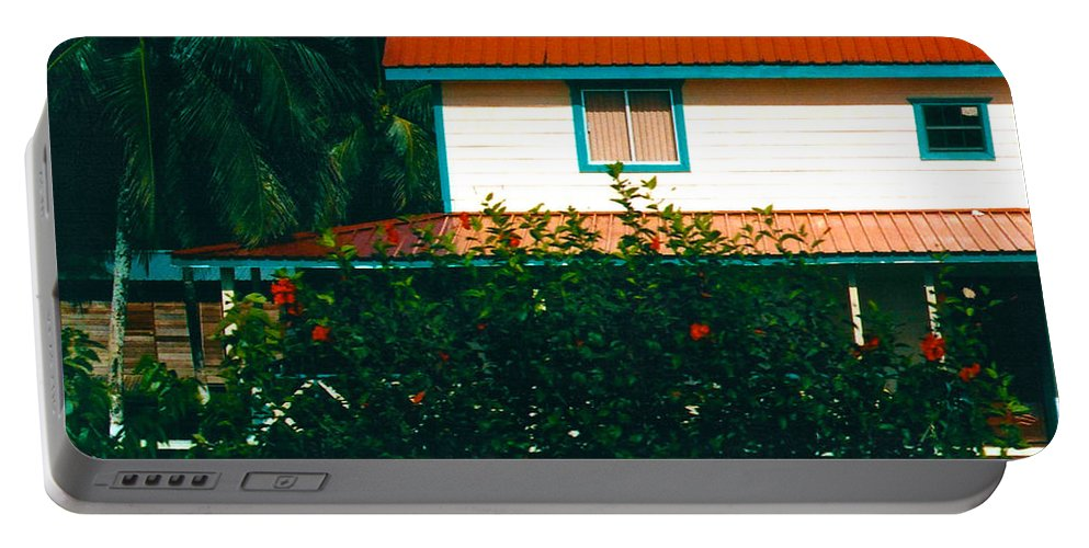 Red Roof Portable Battery Charger featuring the photograph Red Roof Home by Anita Lewis