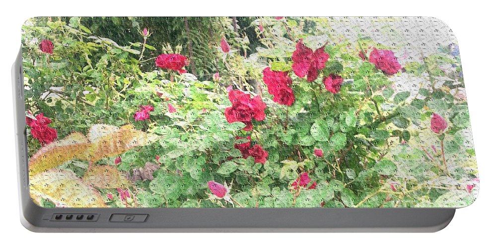 Roses Portable Battery Charger featuring the photograph Red Roses by Alys Caviness-Gober