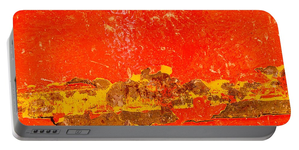 Rusty Portable Battery Charger featuring the photograph Red Rusty Backgound by Dutourdumonde Photography