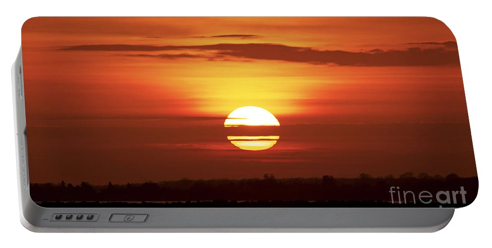 Sunset Portable Battery Charger featuring the photograph Red Skies by Joe Geraci