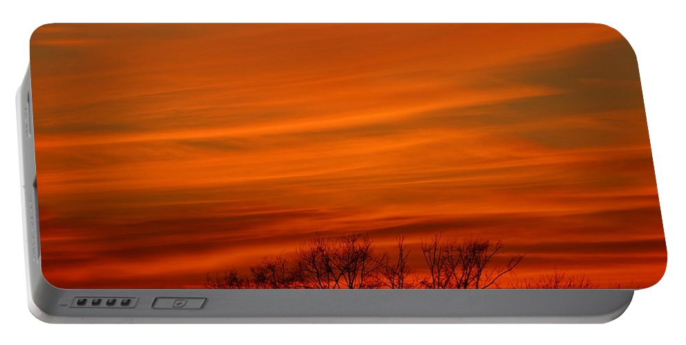 Sunset Portable Battery Charger featuring the photograph Red Sky by Jeffery L Bowers