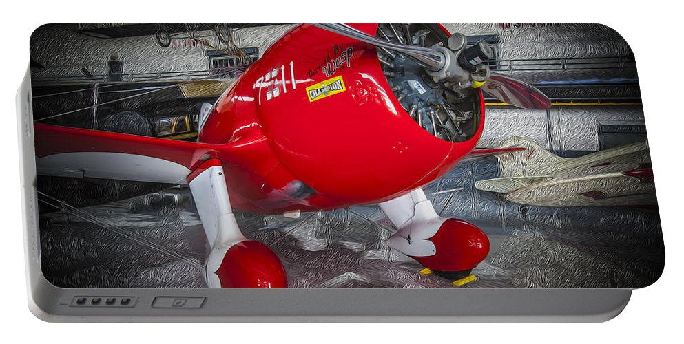 Acrobatic Plane Portable Battery Charger featuring the photograph Red Speedster by Rich Franco