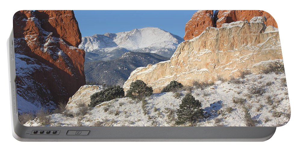 Colorado Portable Battery Charger featuring the photograph Red White And Blue by Eric Glaser