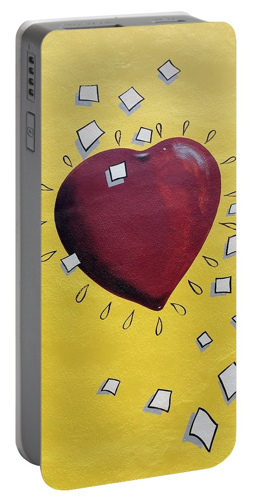 Heart Portable Battery Charger featuring the photograph Redheart by Rob Hans