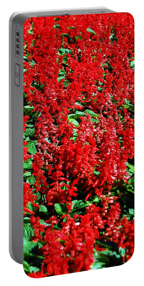 Red Portable Battery Charger featuring the photograph Redlicious by Aimee L Maher ALM GALLERY