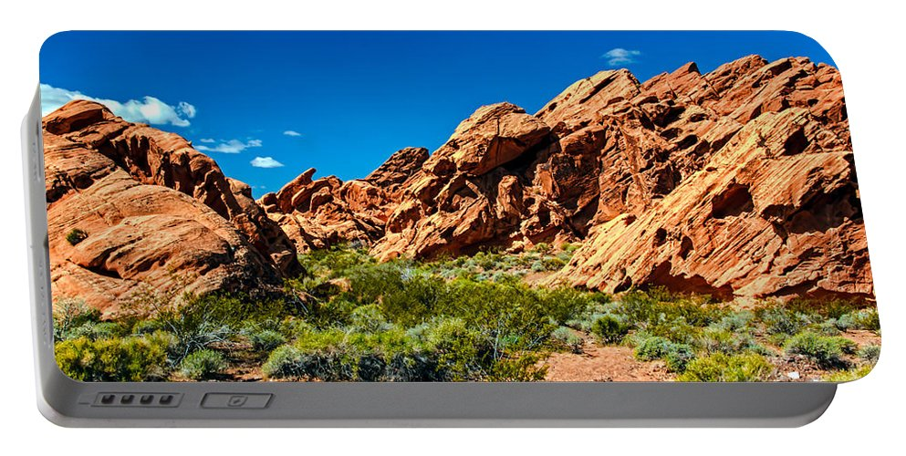 Redstone Picnic Area Portable Battery Charger featuring the photograph Redstone Picnic Area by Robert Bales