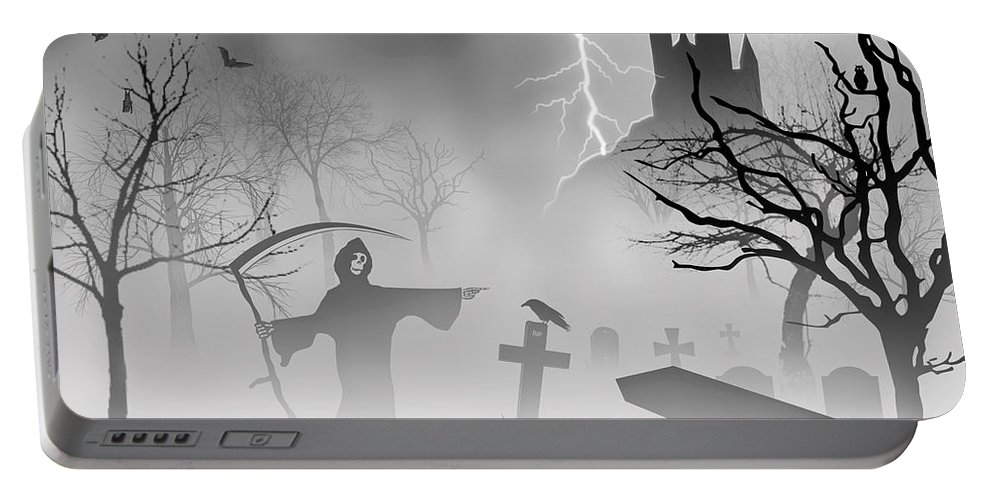 2d Portable Battery Charger featuring the digital art Reeper by Brian Wallace