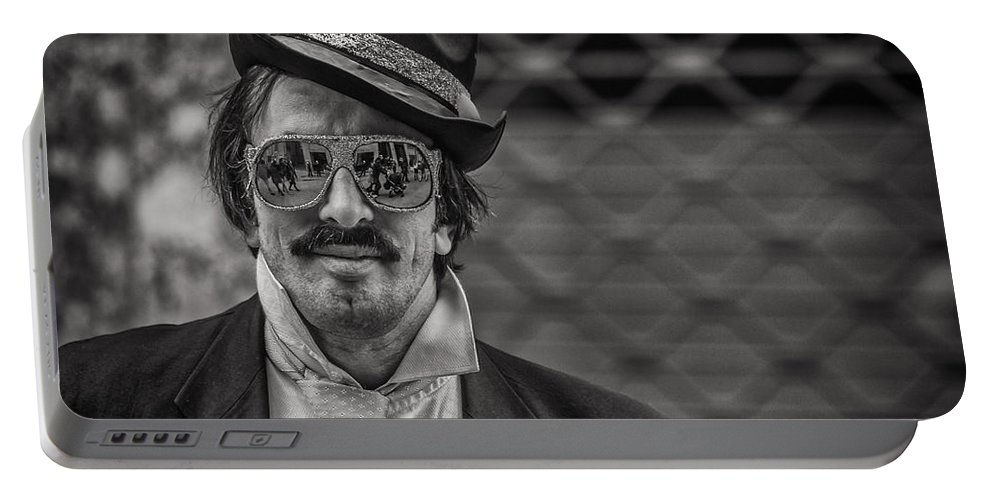 Silverefexpro Portable Battery Charger featuring the photograph Reflecting Glasses by Roberto Pagani