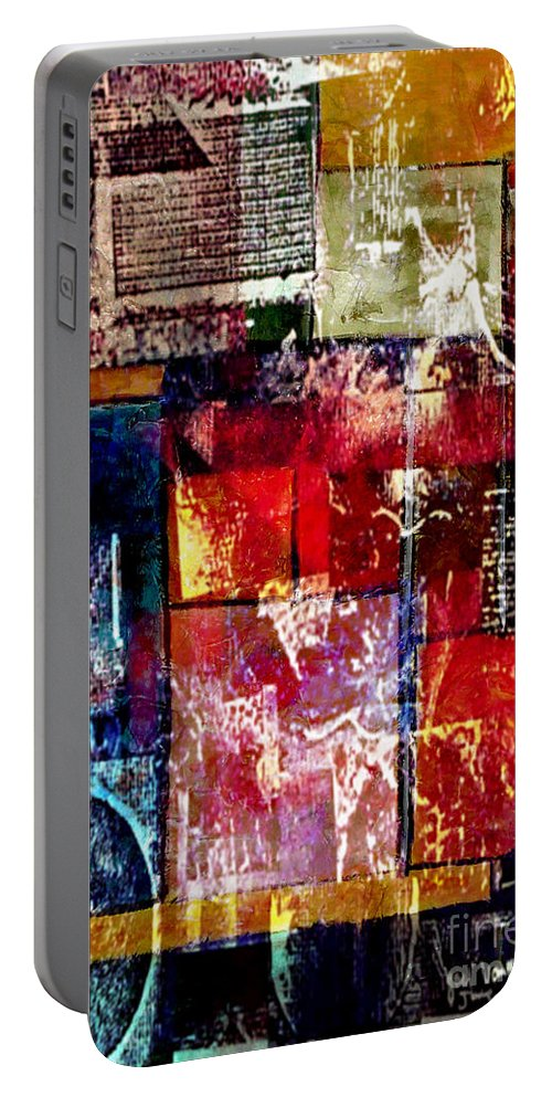 Digital Art Abstract Portable Battery Charger featuring the digital art Reflection by Yael VanGruber