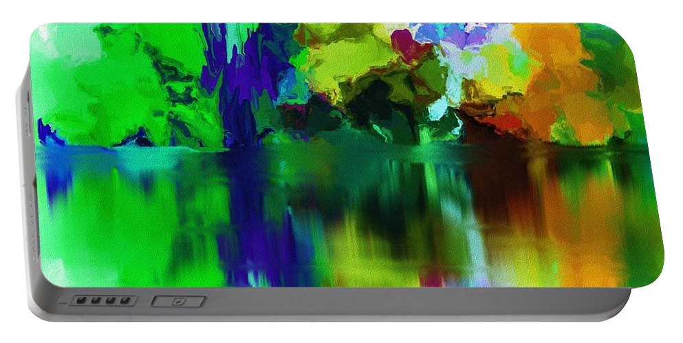 Fine Art Portable Battery Charger featuring the digital art Reflections 012013 by David Lane