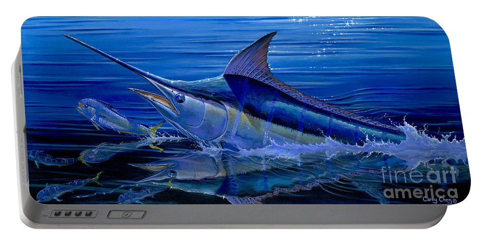 Marlin Portable Battery Charger featuring the painting Reflections Off0058 by Carey Chen