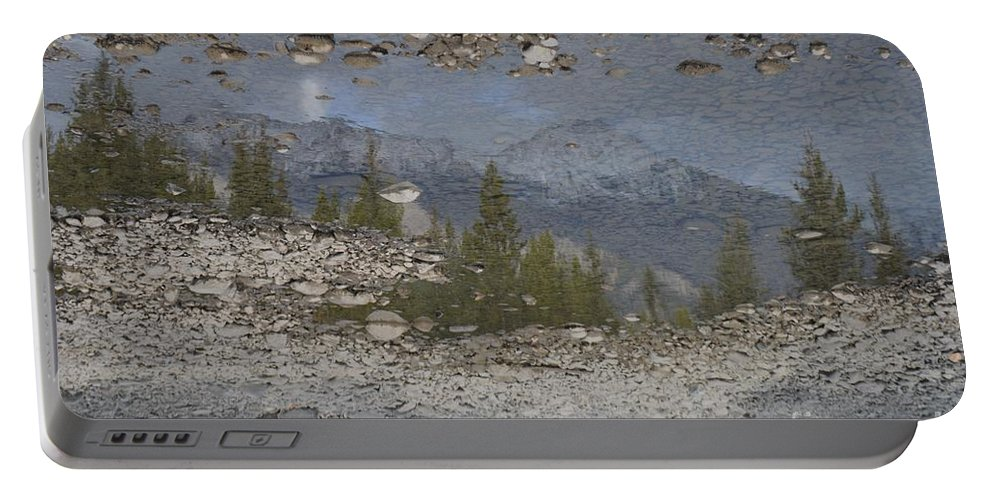 Reflection Portable Battery Charger featuring the photograph Reflections On A Mountain Stream by Brian Boyle