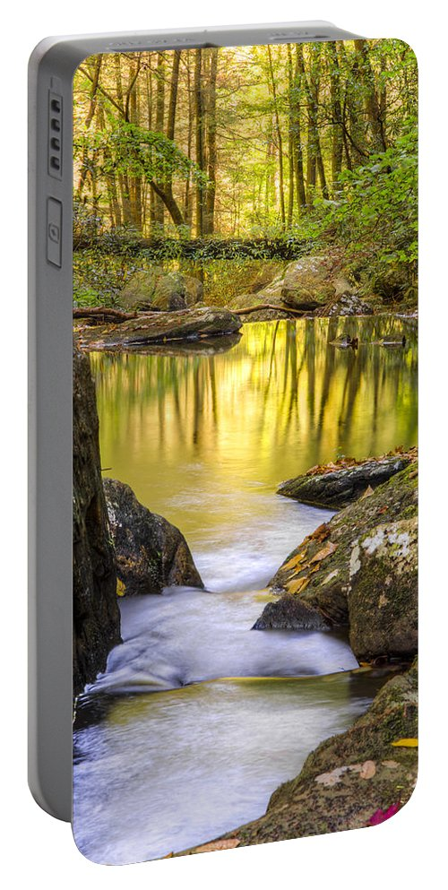 Appalachia Portable Battery Charger featuring the photograph Reflective Pools by Debra and Dave Vanderlaan