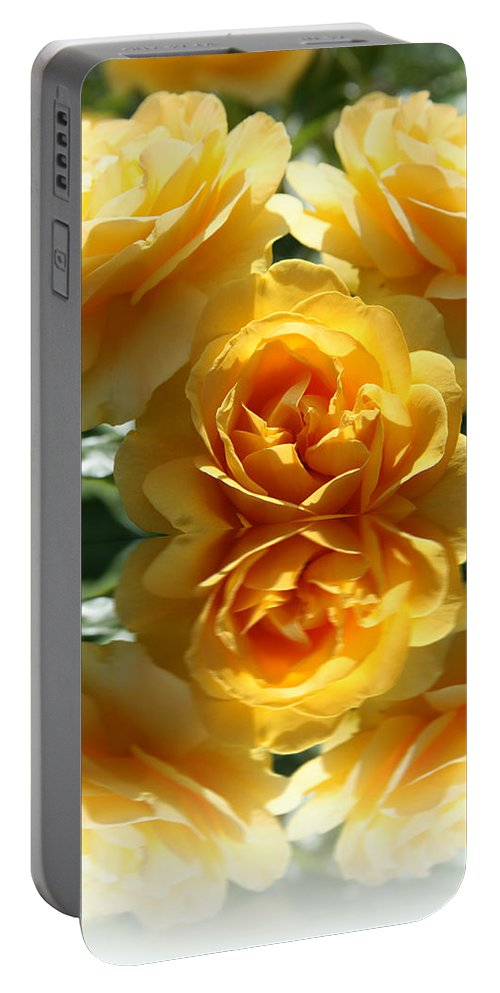 Rose Portable Battery Charger featuring the photograph Reflective Prettiness by Christiane Schulze Art And Photography