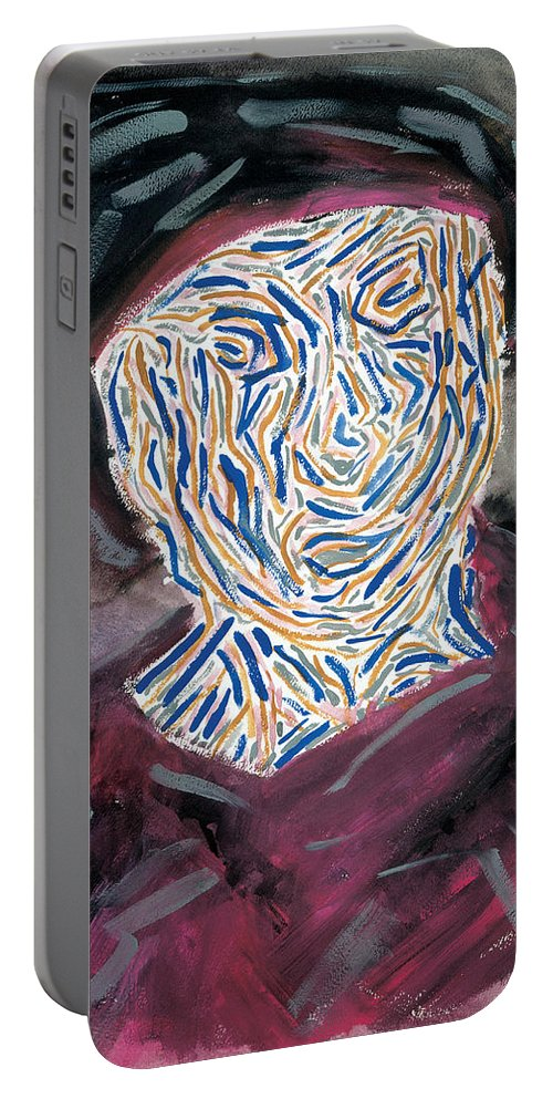 Contemporary Portable Battery Charger featuring the painting Refugee Europe -99 by Bjorn Sjogren